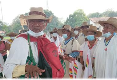 Marcial Fabricano, líder indígena, de Beni