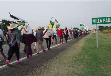 La marcha continuó hoy su recorrido. Foto: Yolvik Chacón