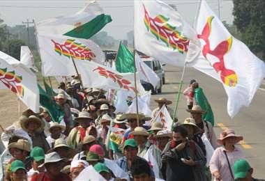 La marcha indígena busca que el Gobierno atienda sus demandas. Fotos: Ipa Ibáñez