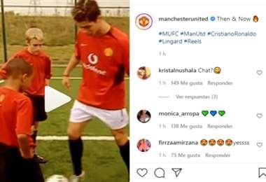 Captura de pantalla del video publicado en Instagram por el Manchester United