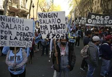 Marchas contra el gobierno en Argentina (Foto: AFP)