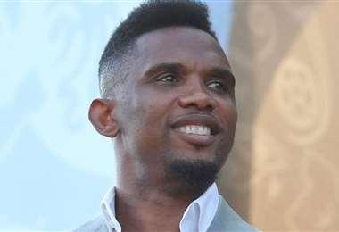 Samuel Eto'o quiere tomar las riendas del fútbol camerunés. Foto: Internet
