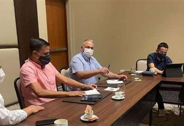 Se analizó en reunión la situación de la selección nacional. Foto: FBF