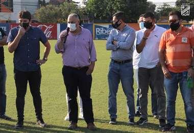 Fernando Costa estuvo acompañado de Ronald Raldes en Oriente. Foto: Oriente P.