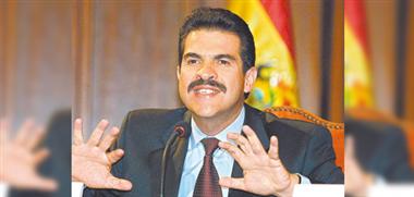 Manfred Reyes Villa, alcalde de Cochabamba, ARCHIVO