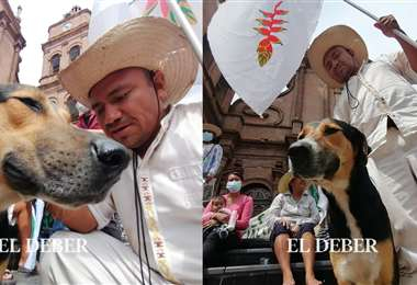 La cacique general chiquitana Beatriz Tapanaché bautizó al perro con el nombre de Penoco
