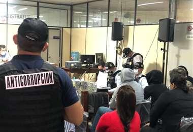 Casi nueve horas duró la audiencia cautelar de los implicados/Foto Jessica Vega