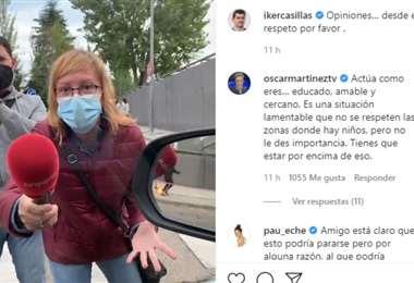 Captura de pantalla del video que publicó Casillas en Instagram