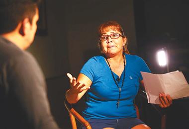 Celia Castedo durante una entrevista en Brasil/Foto archivo EL DEBER