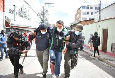 Cocalero herido /Foto: APG Noticias