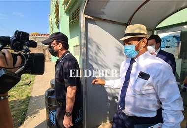 Eduardo Urenda se retiró de la Felcv sin hablar con los medios/Foto Jorge Gutiérrez.