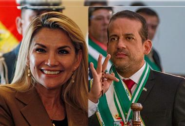Jeanine Áñez, expresidente del Estado y Fernando Camacho, gobernador de Santa Cruz
