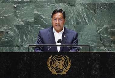 Luis Arce en la ONU /AFP