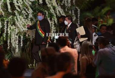 David Choquehuanca pidió unidad política para Bolivia/Foto Fuad Landívar