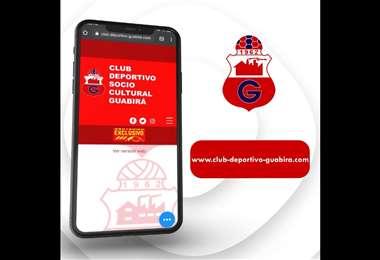 El portal en línea del club Guabirá.