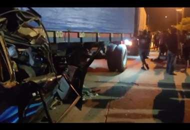 El accidente ocurrió entre Montero y Okinawa