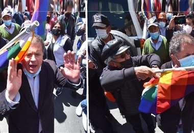La agresión fue captada por los periodistas que estaban presentes. APG Noticias