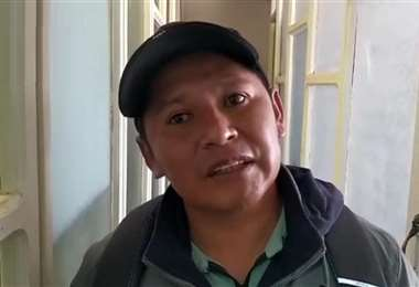 Armin Lluta, dirigente cocalero. Captura de pantalla (MR)