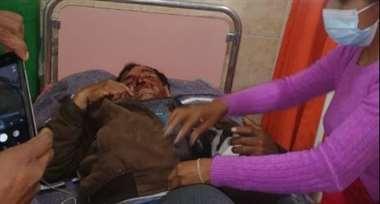 Pedro Mullisaca fue rescatado luego de caer de un barranco