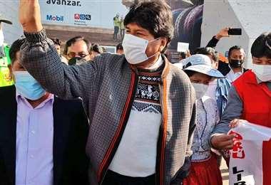 Evo Morales en Arequipa, Perú
