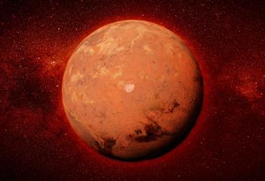 Marte, el planeta rojo más cerca de la Tierra. Foto. Internet