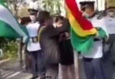 Captura de pantalla del video difundido por Carlos Valverde