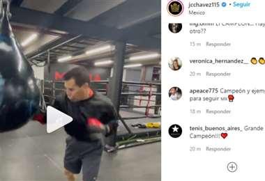 Captura de pantalla del video publicado por Julio César Chávez en Instagram