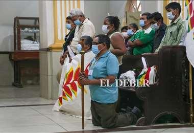 Los marchistas llegaron este martes a Cotoca. Foto: Ipa Ibañez