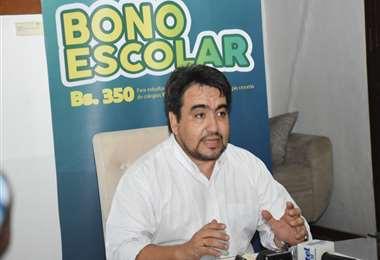 Raúl Ascarrunz informó este martes sobre la apertura de la segunda fase del bono.