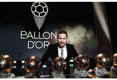 Messi fue el último ganador del Balón de Oro en 2019. Foto: Internet
