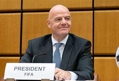 El presidente de la FIFA Gianni Infantino quiere un Mundial bienal. Foto: Internet