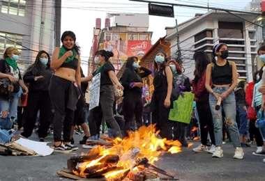La movilización de ayer en La Paz I La Resistencia.
