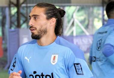 Matías Cáceres, en la concentración de la selección uruguaya. Foto: AUF