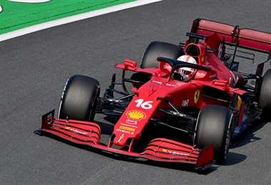 Charles Leclerc fue el más veloz en su Ferrari. Foto: AFP