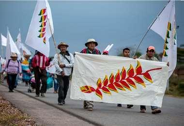 La marcha indígena recorre tierras cruceñas