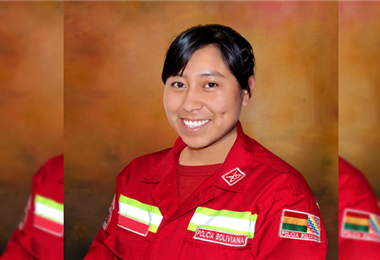 Ruth Orellana, bombera fallecida en Cochabamba