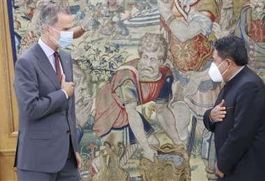 Choquehuanca con el rey de España I redes.