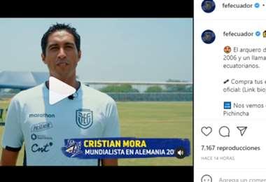 Captura de pantalla del video publicado por la FEF en Instagram
