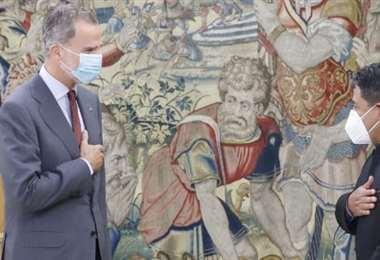 El Vicepresidente en su primer encuentro con el rey Felipe VI