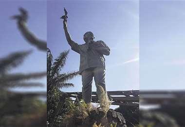 Vida y obra. El monumento al científico cruceño en el zoológico municipal