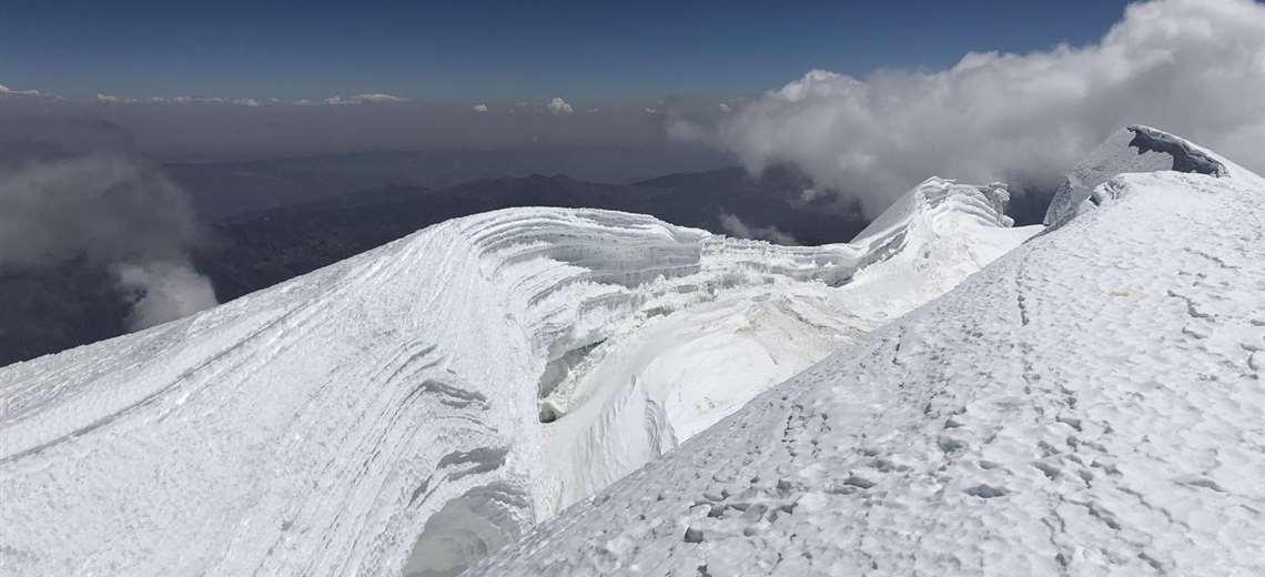 Uno de los picos del Illimani I Gabriel Vargas.