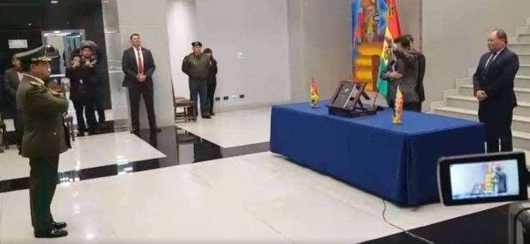 Calderón foi o último comandante da Polícia do Governo de Evo Morales
