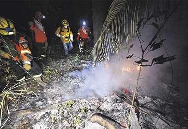 Los incendios afectan a seis áreas protegidas de Santa Cruz
