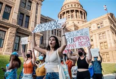 Mujeres proaborto protestan en Texas