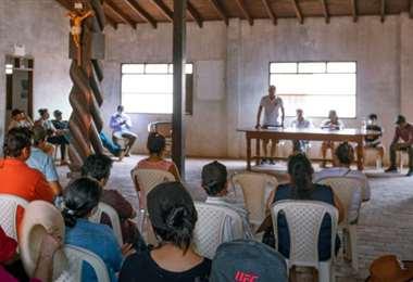 Reunión de la Comunidad Indígena 3 de Octubre