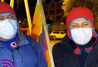Sujetos que amenazan a la presidenta de la APDHB I captura.