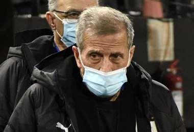 Tabárez lleva 15 años seguidos al mando de Uruguay. Foto: AFP