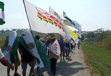 La marcha indígena llega a Ascensión y prepara la sesión del parlamento indígena