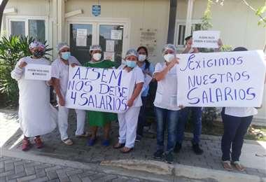 Protesta en el Oncológico