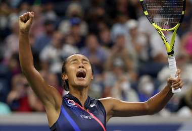 Leylha Fernández, tenista canadiense. Foto: AFP